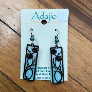 Jewelry - Adajio white/Tea/Silver earrings